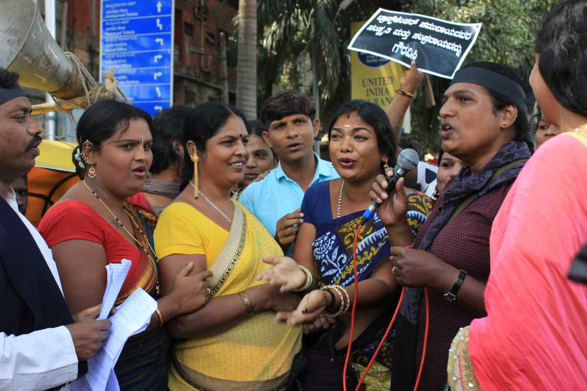 Want a Separate Class: Transgender People Hit Bengaluru Streets